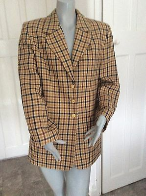 vintage wool blend tan tweed inspired jacket
