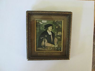 "ANTIQUE ART ""THE MERCHANT GISZE"" 1800-1880s HOLBEIN PRINT,  NICE, OLD FRAME."