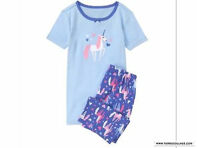 New Gymboree  Girls Unicorn Gymmies Sky Blue Gymmies Pajamas Size 4,6,7,8,10