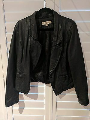 Black Leather Jacket Just Jeans 45