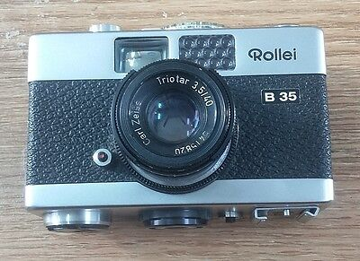 Rollei B 35 Camera with Carl Zeiss Triotar 40mm F3.5 Lens NOT TESTED
