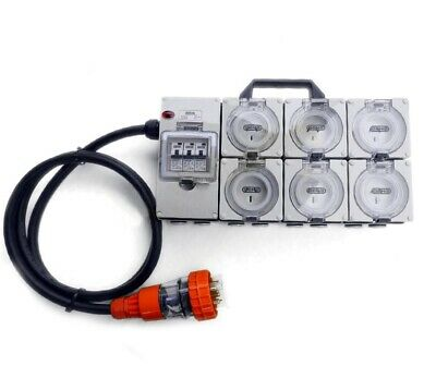 Power Board 5 Pin 32A to 3 X 15A & 3 X 10A RCBO Protected Outlets