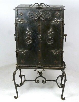 French custom made wrought iron chest