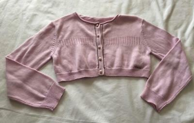 CHLOÉ - Designer girls Size 4 years - PINK CROPPED CARDIGAN - NWT