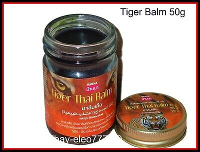 50g Original Thai Massage Tiger Balm, Arthritis and Arthrosis Pain Relief