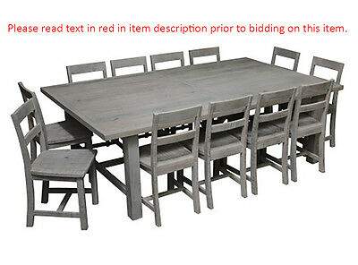 8 seater solid timber dining table aud picclick au for 12 seater farmhouse table