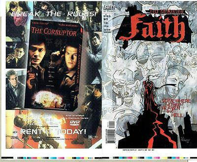 FAITH #1 TED McKEEVER PROOF COVER PRODUCTION ART