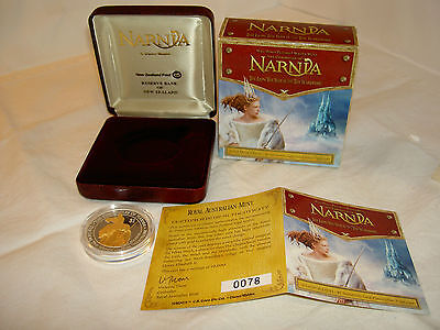 Narnia Coin $1 Proof Silver 99.9% Troy Ounce BRAND NEW New Zealand White Witch