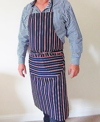 Blue Red White Professional Quality Chef Butchers Bistro Cooks BBQ Apron UK made