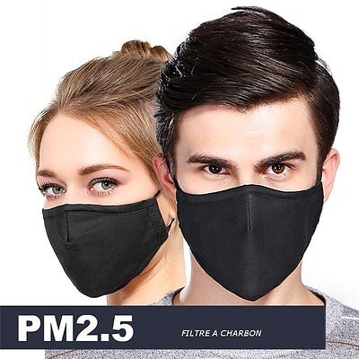 Masque  protection respiratoire Filtre Charbon Anti POLLUTION VIRUS PARTICULES