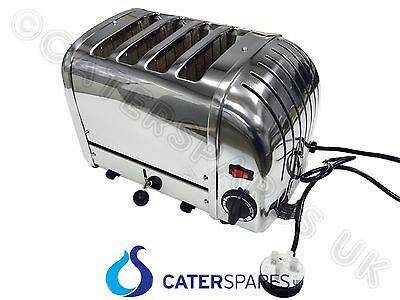 Dualit Classic Vario 4 Slice Slot Toaster Polished Chrome Stainless Steel 2200W