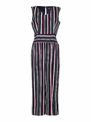 Mela London Stripe Print Sleeveless Jumpsuit  16 Multi