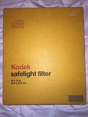 "10x12"" Kodak Darkroom Safelight Glass Filter"