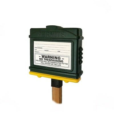 EZ Permit Box 100% Recyclable All Weatherproof Permit Box Made in the USA!