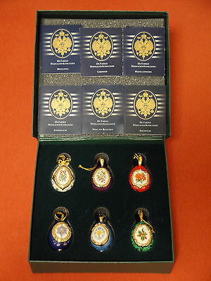 Christmas Egg Ornament Collection - House of Fabergé, 6 Weihnachts-Schmuckeier