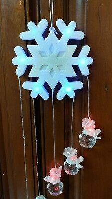 Snowman lighted hanging lighted snowflake and snowmen by Avon