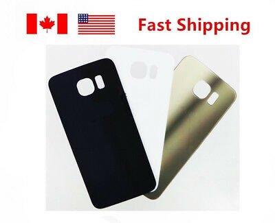 Samsung Galaxy S6 Edge G925A G925T Back Battery Door Glass Cover White/Gold/Blue