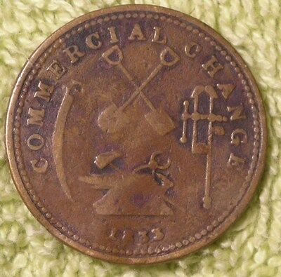 1833 Upper Canada Half Penny Commercial change