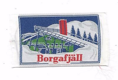 Borgafjäll Mountain Dorotea Lappland Province Sweden Old Woven Travel Patch