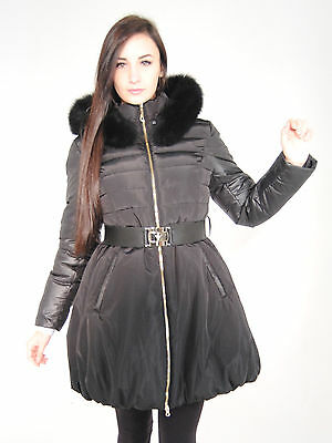 Damen Winterjacke Gianna mit Echtfell Kapuze aus Waschbär Woman real Fur Coat