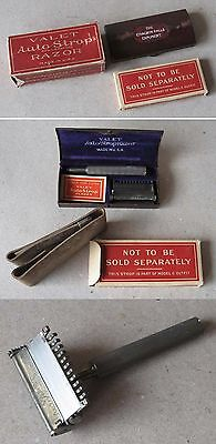 Antique Silver-Plated Safety Razor Valet Autostrop Safety Razor / Complete Box