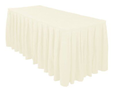Urby 4 ft Fitted Table Skirt Cover Wedding Banquet with Top Topper Tablecloth -