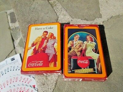2--1990's COCA-COLA DECK PLAYING CARDS Complete with Jokers