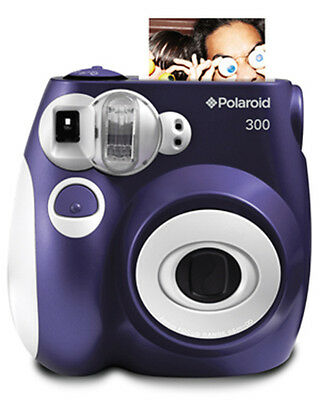 Polaroid 300 Camera Purple/ 1 packet (10 shots) of film, hard clam shell case