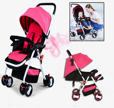 Baby Lightweight Pram Foldable Umbrella Stroller Travel Kids Pushchair Buggy