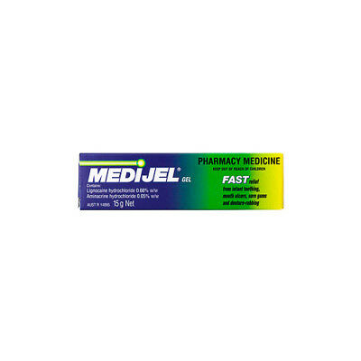 NEW Cold Sore Mouth Gel MediJel Mouth Gel 15g Cold Sores Medicine