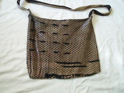 Bag From Silver & Silk Brocade Scarf Fragment Islamic Syria