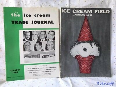 The Ice Cream Trade Journal & Ice Cream Field~Great Vintage Ice Cream Ads~1960