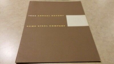 1955 Acme Steel Company annual report stock shareholders assets dividends