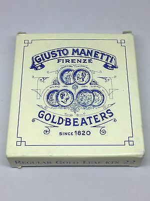 Giusto Manetti 22 Karat Regular Gold Leaf, Four Books