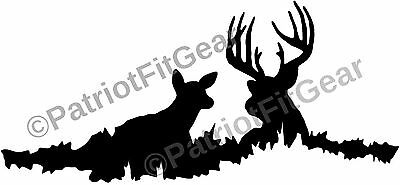 Country Life,Buck,Doe,Bedding Down,Deer Hunting,2A, Bows,Gun,Country,Vinyl Decal