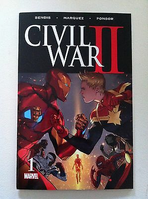 Civil War 2 Ii #1 Brian Michael Bendis David Marquez Near Mint 1St Printing 2016