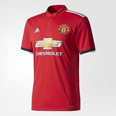 2017/18 New Manchester United Home Jersey Genuine Adidas Football Jersey
