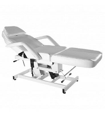 White Adjust Bed Table Chair Electric 1 Motor Therapy Spa Massage Beauty Salon