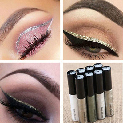 Liquid Glitter Eyeliner Eyeshadow Shiny Waterproof Long Lasting Eye Makeup HOT