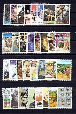 CANADA - 2000 - MILLENNIUM COLLECTION - SCOTT 1818a TO 1834d - USED