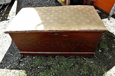 Pine Coffer Victorian with candle box.
