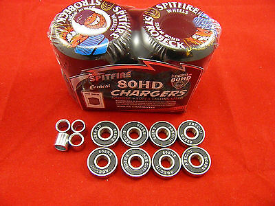 SPITFIRE STROBECK 55mm/80HD CLASSIC CHARGERS -SKATEBOARD WHEELS+ ABEC 11'S