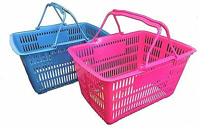 Shopping Basket Plastic Blue or Pink