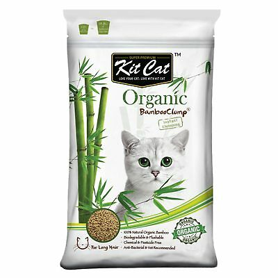 Kit Cat Bamboo Clumping Litter Long Hair Cat Litter 11Kg Natural Anti Bacterial