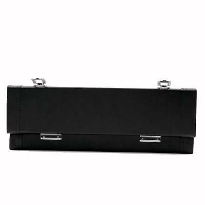 Hardshell Black Flute Gig Case Carry Box Leather for Concert Stage Accessory