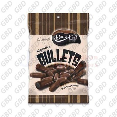 DARRELL LEA DARK CHOCOLATE BULLETS 200G (x14)