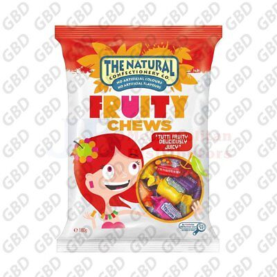 NATURAL CONFECTIONARY COMPANYFRUIT CHEWS 180G (x12)
