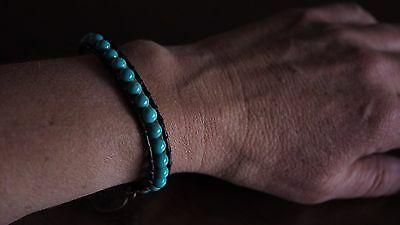Medley Blue Turquoise Beaded Natural Crystal Bracelet Healing Protect Ideal Gift