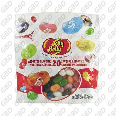 JELLY BELLY ASSORTED FLAVOURS 100G (x12)