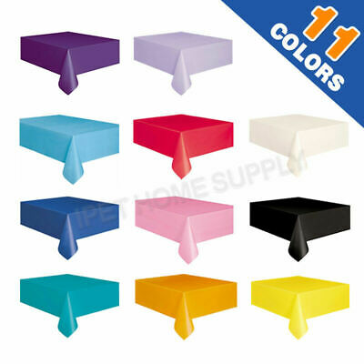 Tablecover Table Cover Plastic Tablecloth Birthday Wedding Party 137X274cm
